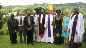 Bishop Andrew Watson with local Ugandan clergy