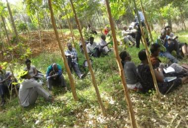 Community meeting in Buhunga