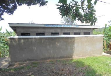Six-stance pit latrine at Burama CDC